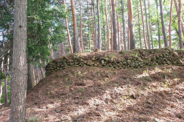 """Hayashi Castle walls at the """"small castle"""""""