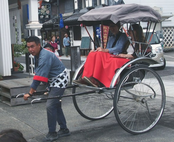 Matsumoto's one and only rickshaw!