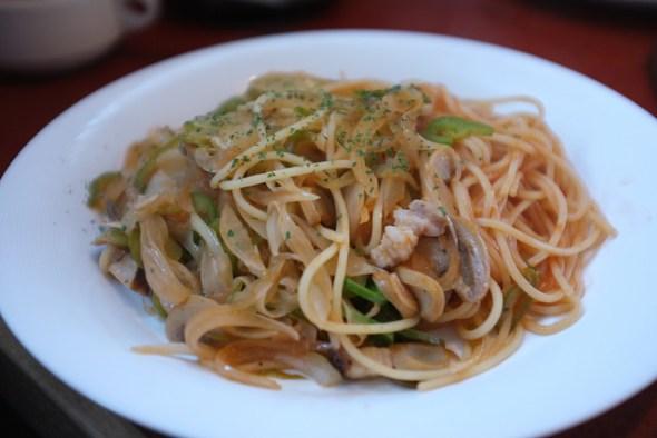 Napolitan pasta packed with veggies