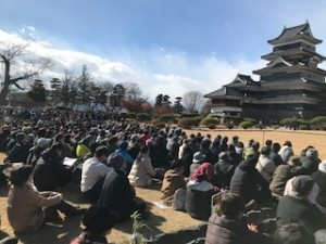Falcons Impress at the Traditional Falconry Show at Matsumoto Castle