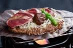 桜肉の朴葉焼き