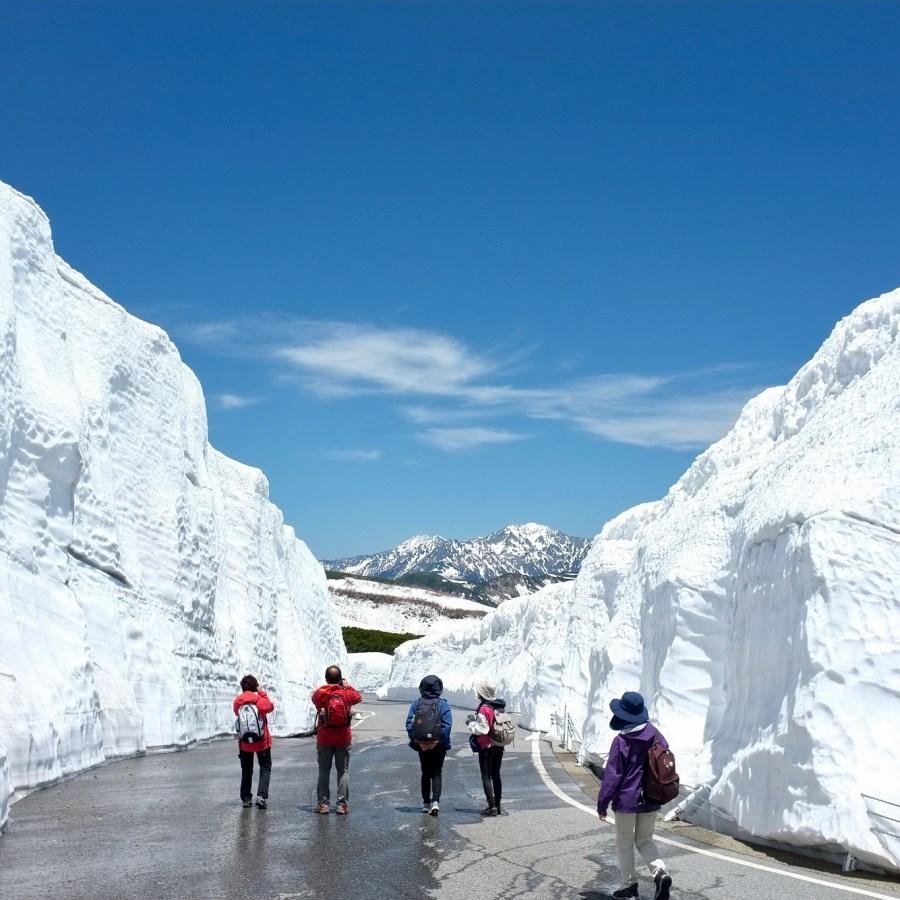 กำแพงหิมะบนภูเขาโนริกุระดาเกะ