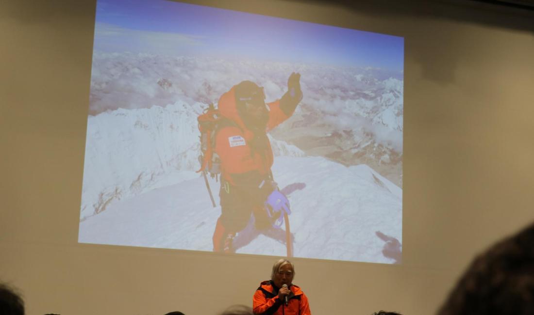 三浦雄一郎さん講演会 「攻める健康法-80才エベレスト登頂」と題して