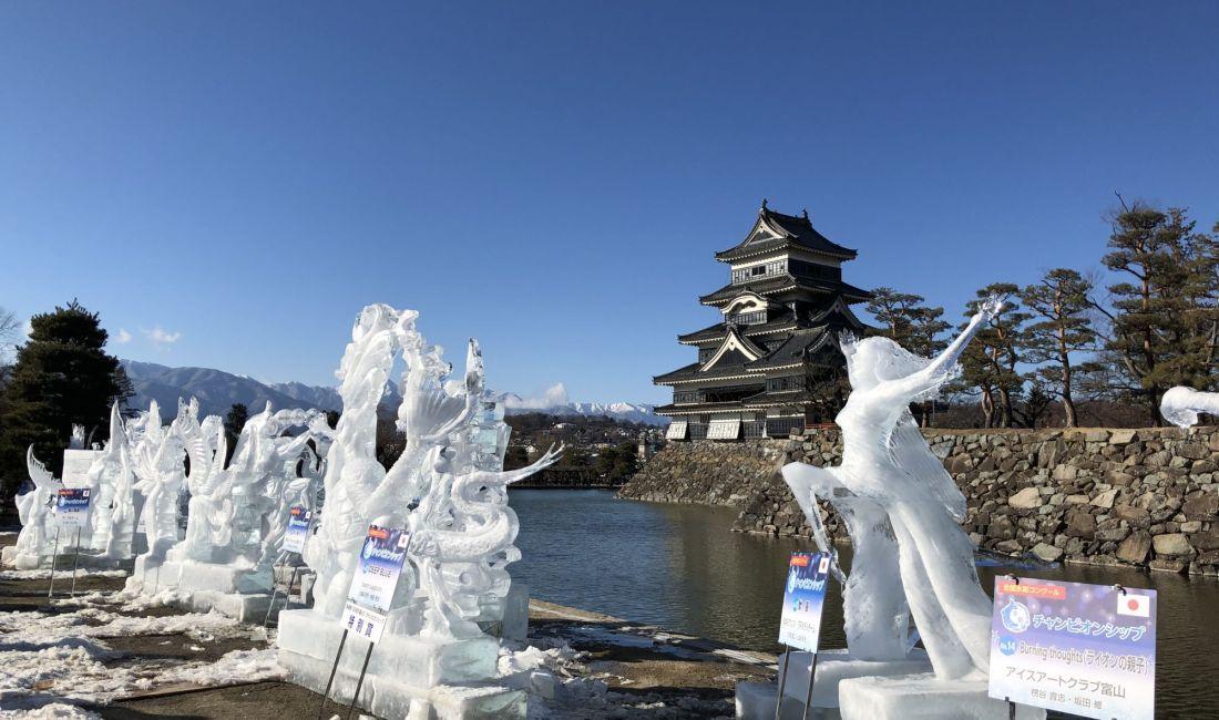 松本城的冰雕节