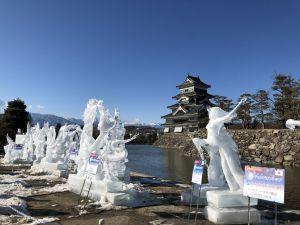松本城の冰雕节