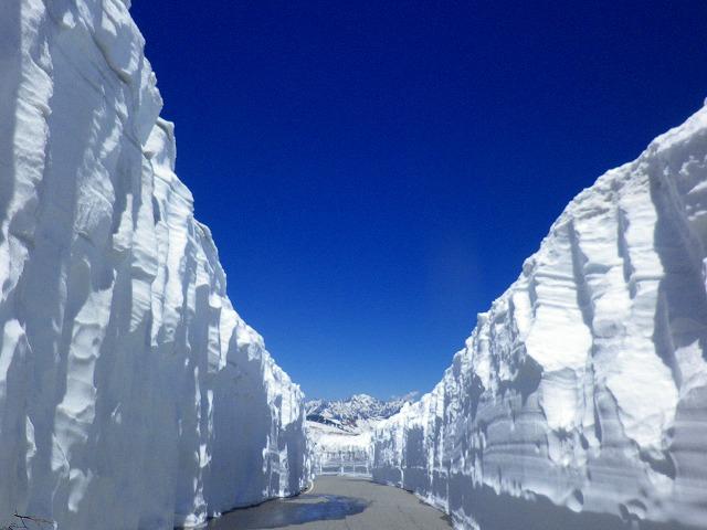 乗鞍の雪の壁が圧巻です!