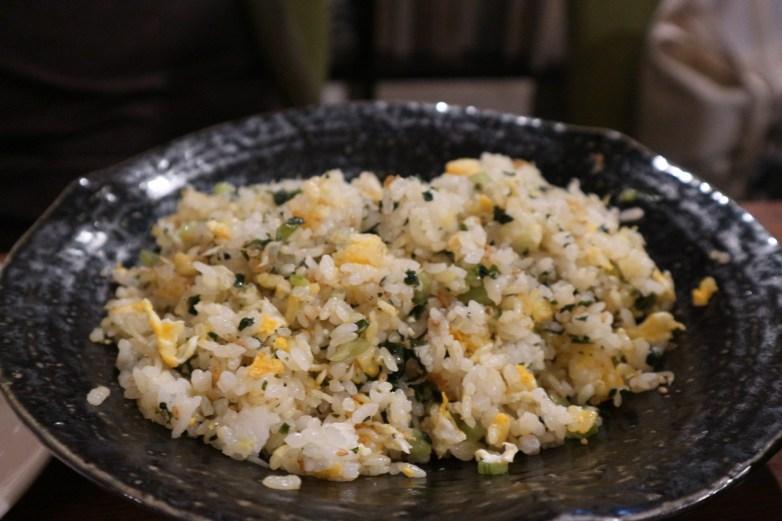 野沢菜とジャコの炒飯