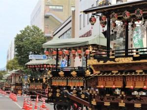 「舞台奉曳展示」城下町松本の舞台がズラリ勢揃い!