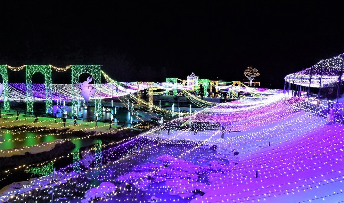 Winter-Wunderland Illumination im Azumino Park