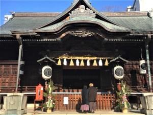 松本の二年参り初詣の神社 令和2年~3年