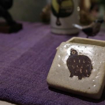 雷鳥陶器の小箱