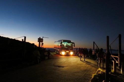 乗鞍岳 ご来光バスの運行は、9月20日までです!
