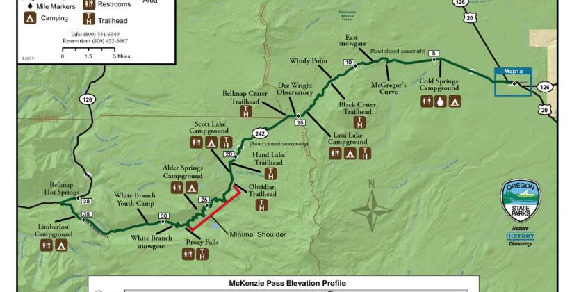 Blue River, OR McKenzie Pass Scenic Bikeway