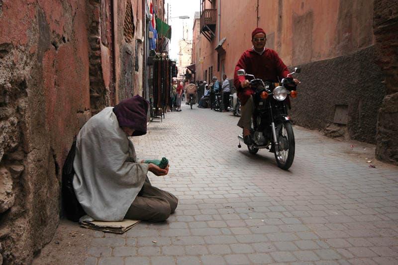 marrakech beggars in morocco