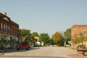 Photo of Main Street Lisbon, Iowa