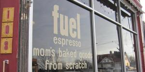 Photo of the front window of Fuel