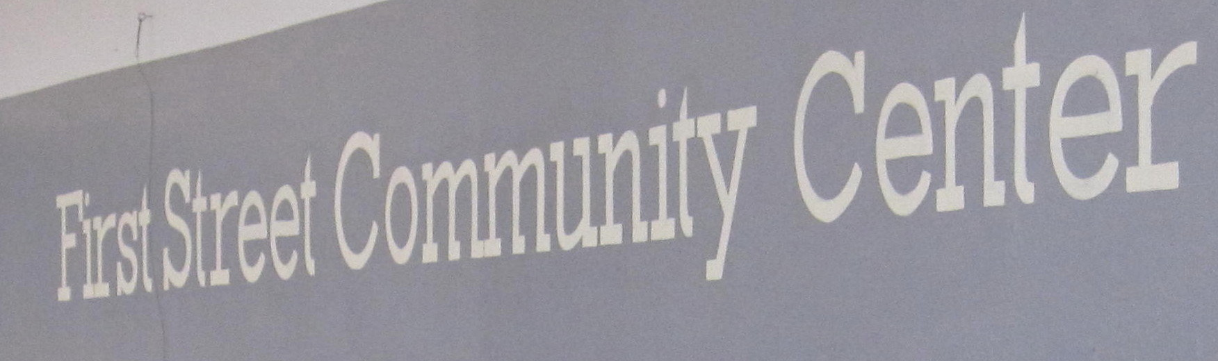 First Street Community Center FSCC Name in Gym