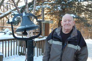 Jim Gunn and the historic Abbe Creek School Bell