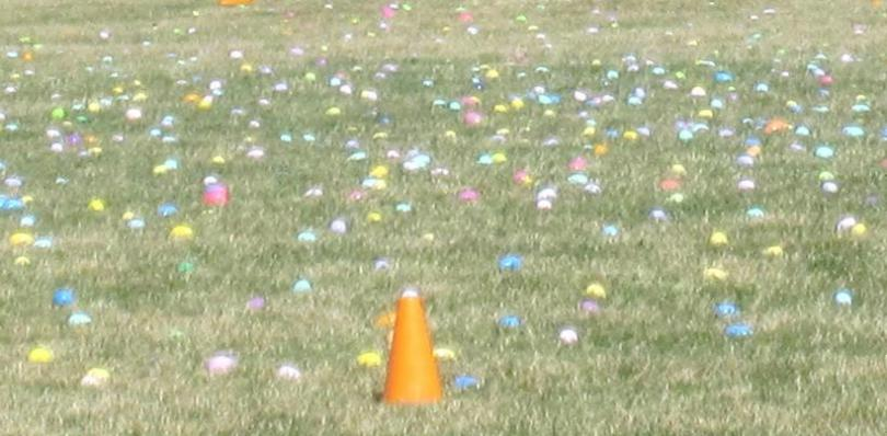 Colorful Easter Eggs at the Easter Egg Dash 2015