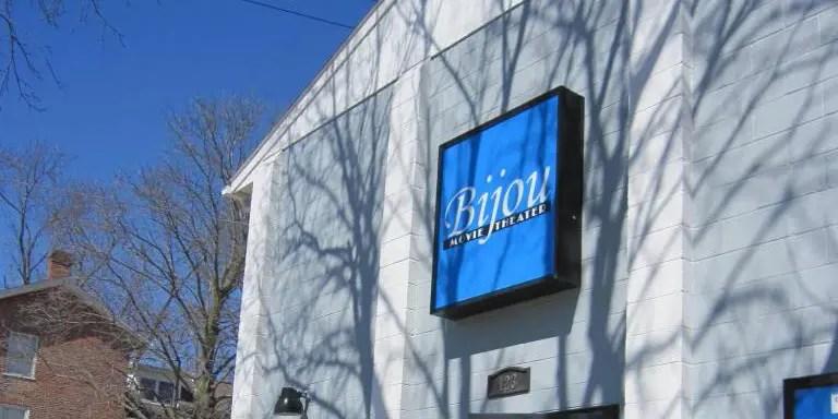 Bijou Movie Theater Building Sign