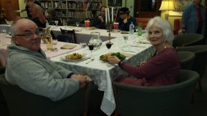 Joe and Ann at Potluck Grant Dinner