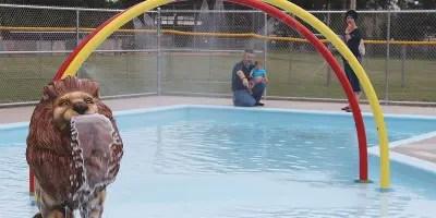 Family at Lisbon Splash Pad