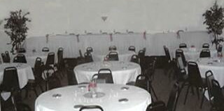 Photo of decorated tables at Regal Crown Receptions