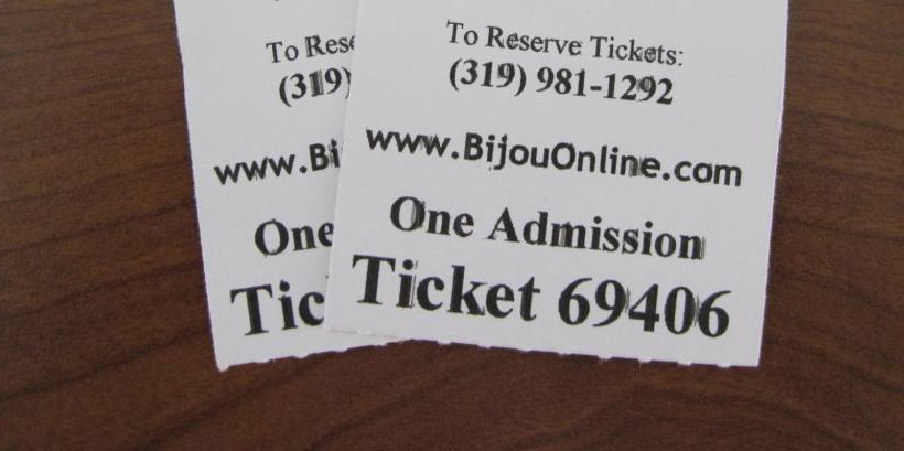 Photo of 2 Bijou Movie Theater Tickets Admission
