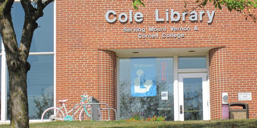 Photo of the Entrance to Cole Library