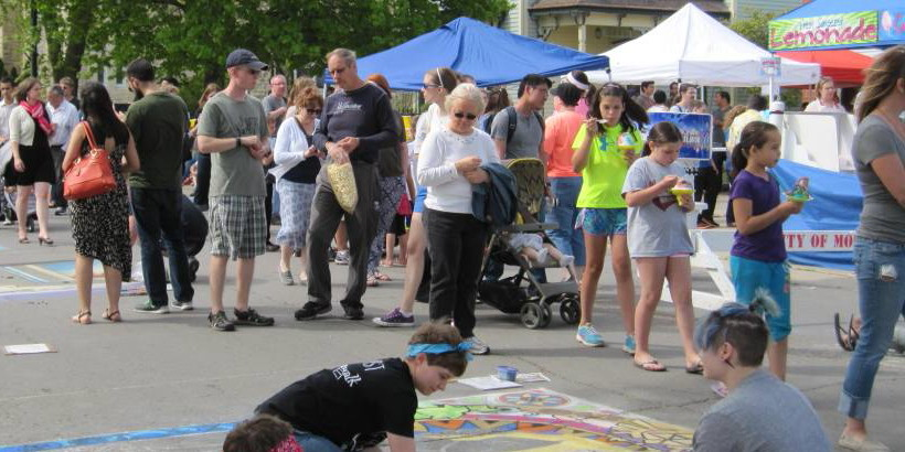 Chalk the Walk Attendees and Food Vendors