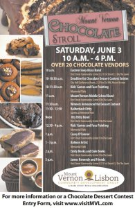 Chocolate Stroll 2017 Schedule of Events
