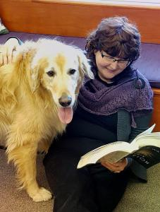 Paws for Reading - Director Cathy Boggs with Wilson