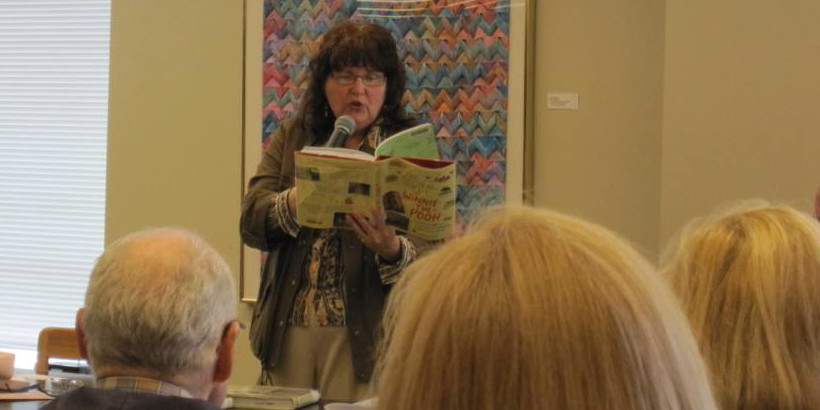 Cathy Boggs at Cole Library Book Talk