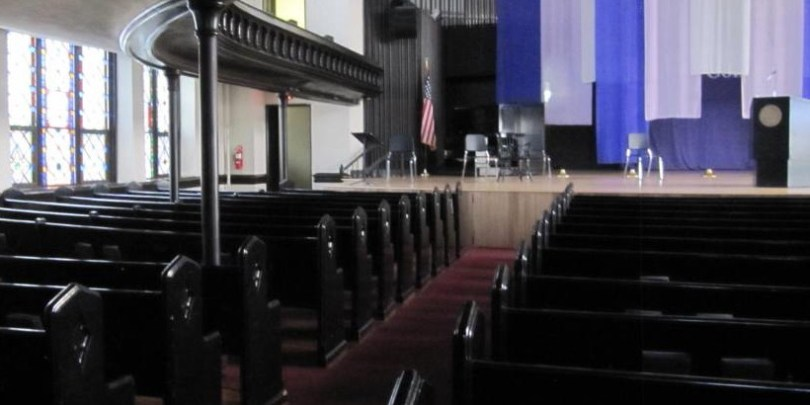Interior of Cornell College King Chapel