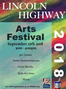 2018 Poster Lincoln Highway Arts Festival