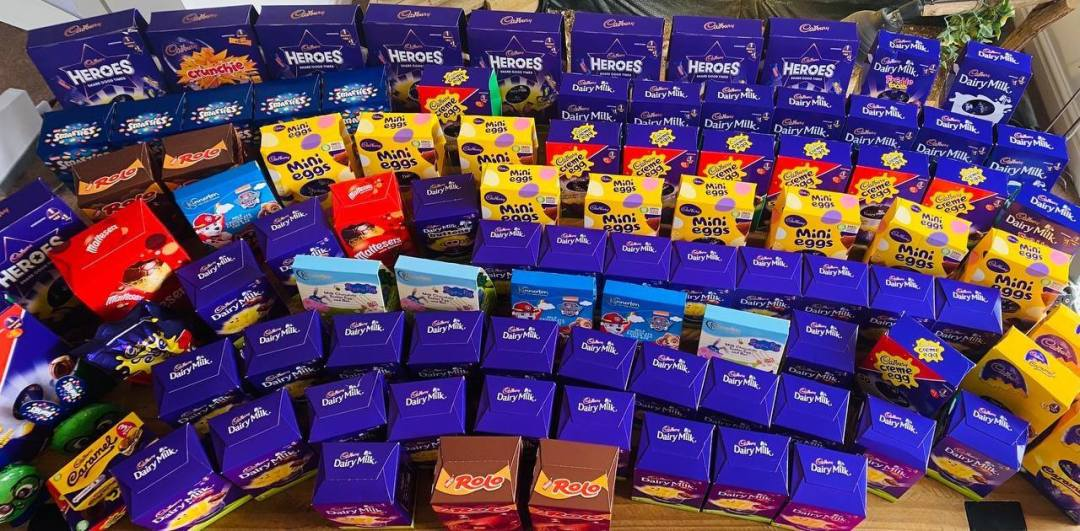 Nearly 100 Easter eggs were donated to Northwich in Need!