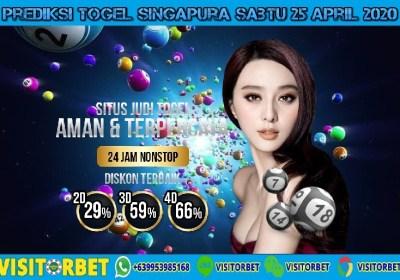 Prediksi Togel Singapura Sabtu 25 April 2020