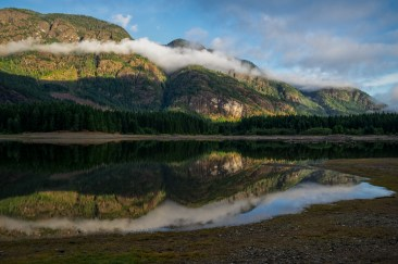 Buttle Lake, Strathcona Provincial Park, Campbell River, British Columbia, Vancouver Island, Canada, Natural and Peaceful