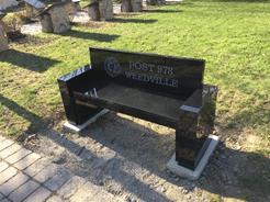 Valley Legion Bench Installed at Mt. Zion Park