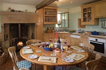 Slade House Farm kitchen table 2012