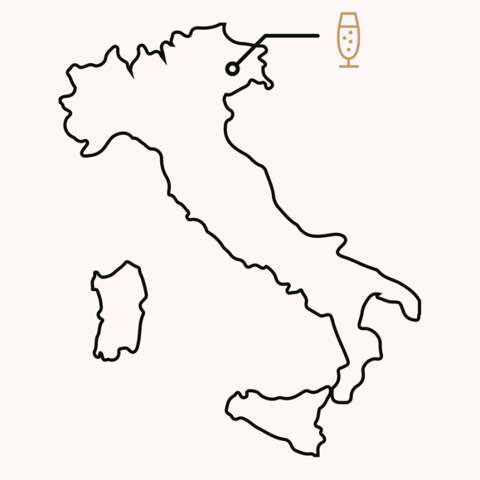 Black And White Map Of Italy.Map Of The Prosecco Region Visit Prosecco Italy