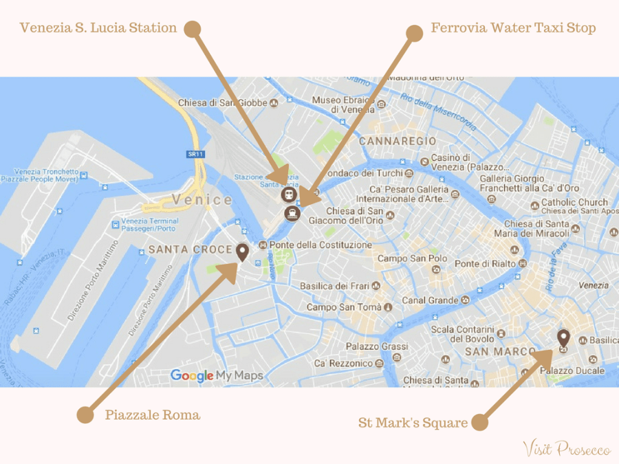Visit Prosecco italy How to Get to the Prosecco Region map of Venice