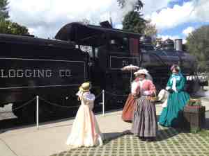 Renactors at Civil War Train at Mt Rainier Railroad and Logging Museum