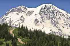 Mt. Rainier from High Hut © Ed Book