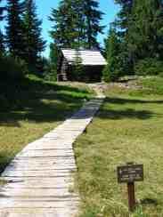 Historic patrol cabin at Golden Lakes @ Craig Romano
