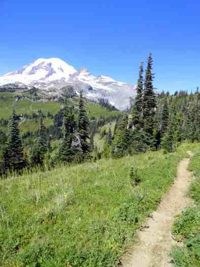 Meadows and marvelous Mount Rainier views from along the Cowlitz Divide © Craig Romano