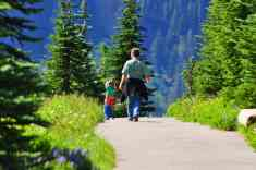 Father and Daughter on Alta Vista Trail