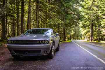 Dodge Charger on Road to Rainier