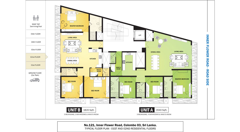 Apartment in colombo lillian avenue real estate for Apartment plans in sri lanka