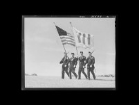 US and Four Freedoms Flags